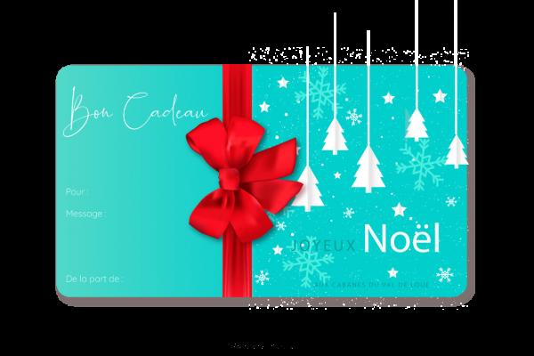 Carte de cadeau noel