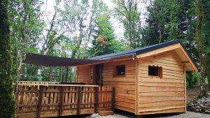 Terrasse cabane Perce-Neige - Cabanes du Val de Loue